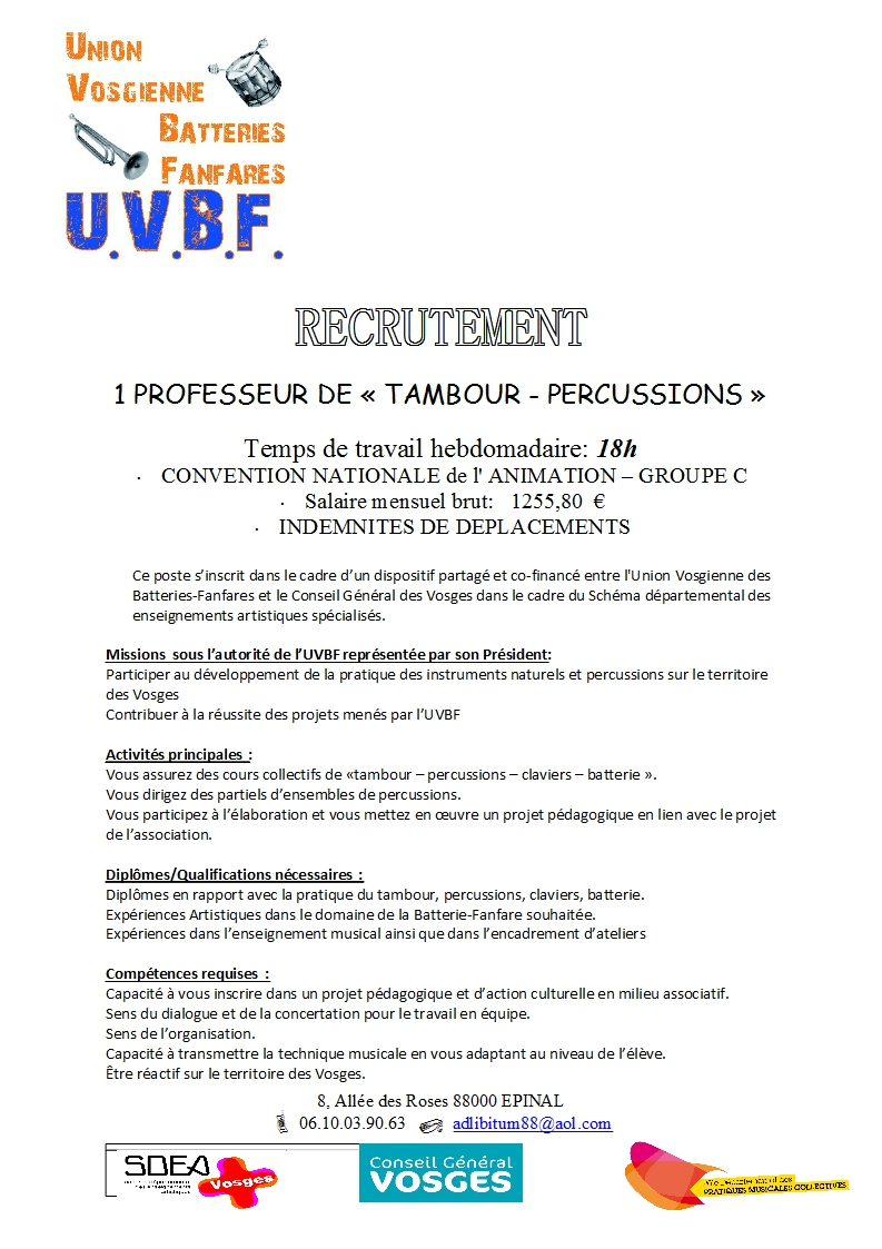 RECRUTEMENT PROF PERCU_2014_CDI page 1