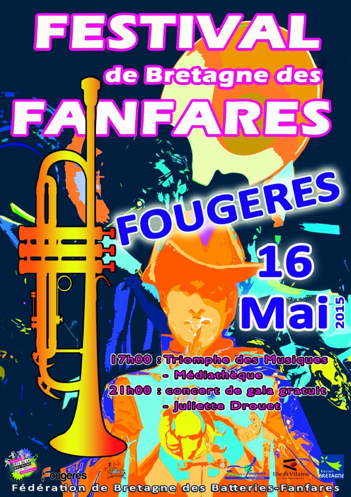 affiche festival fougeres 2015 red