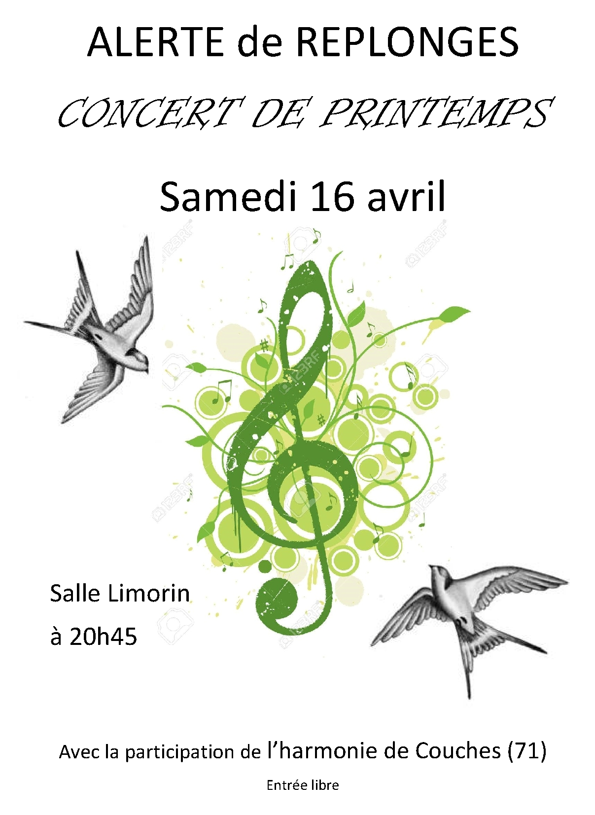 Affiche Concert Replonges 2016