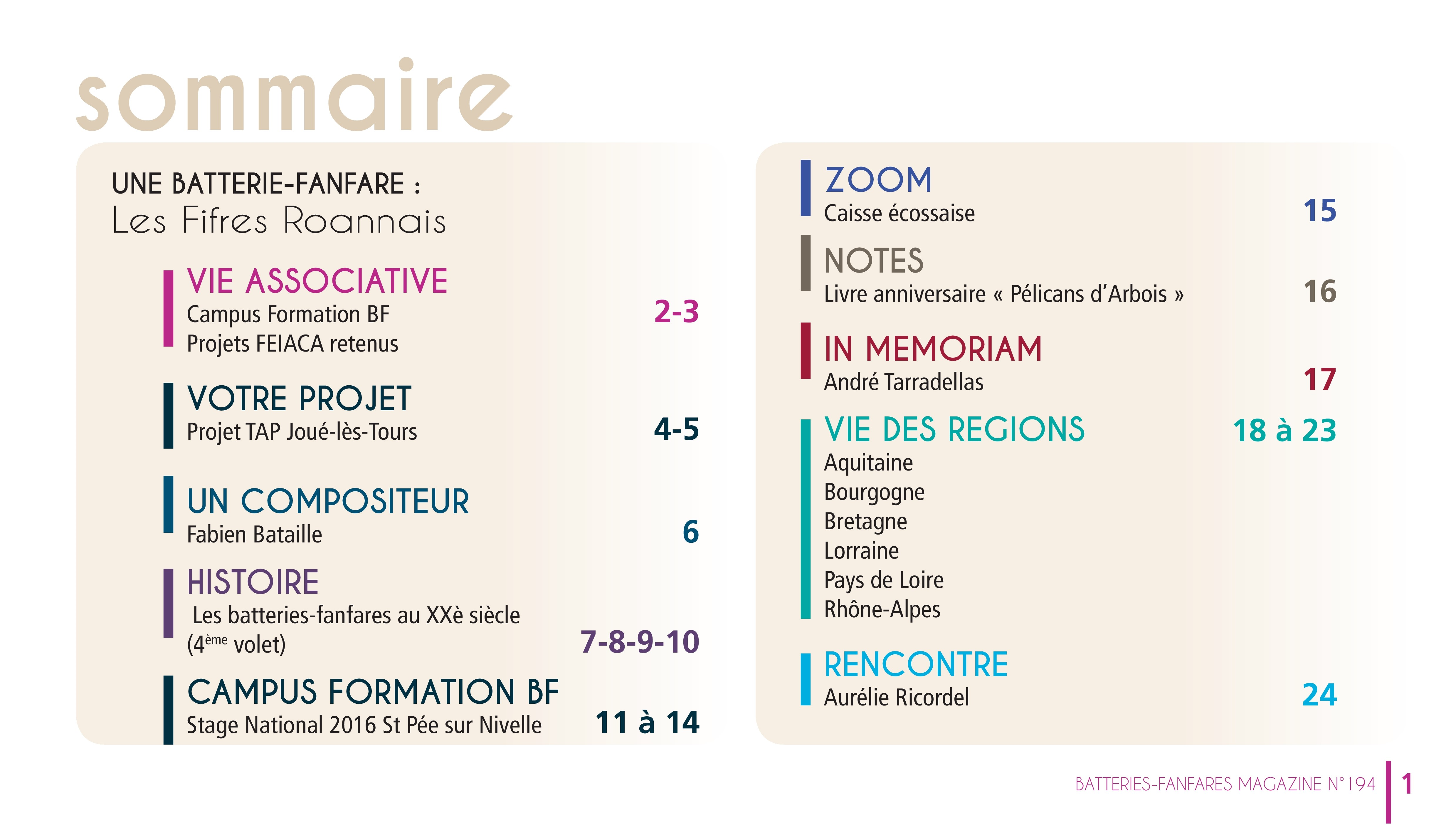 Sommaire BF Mag n°194