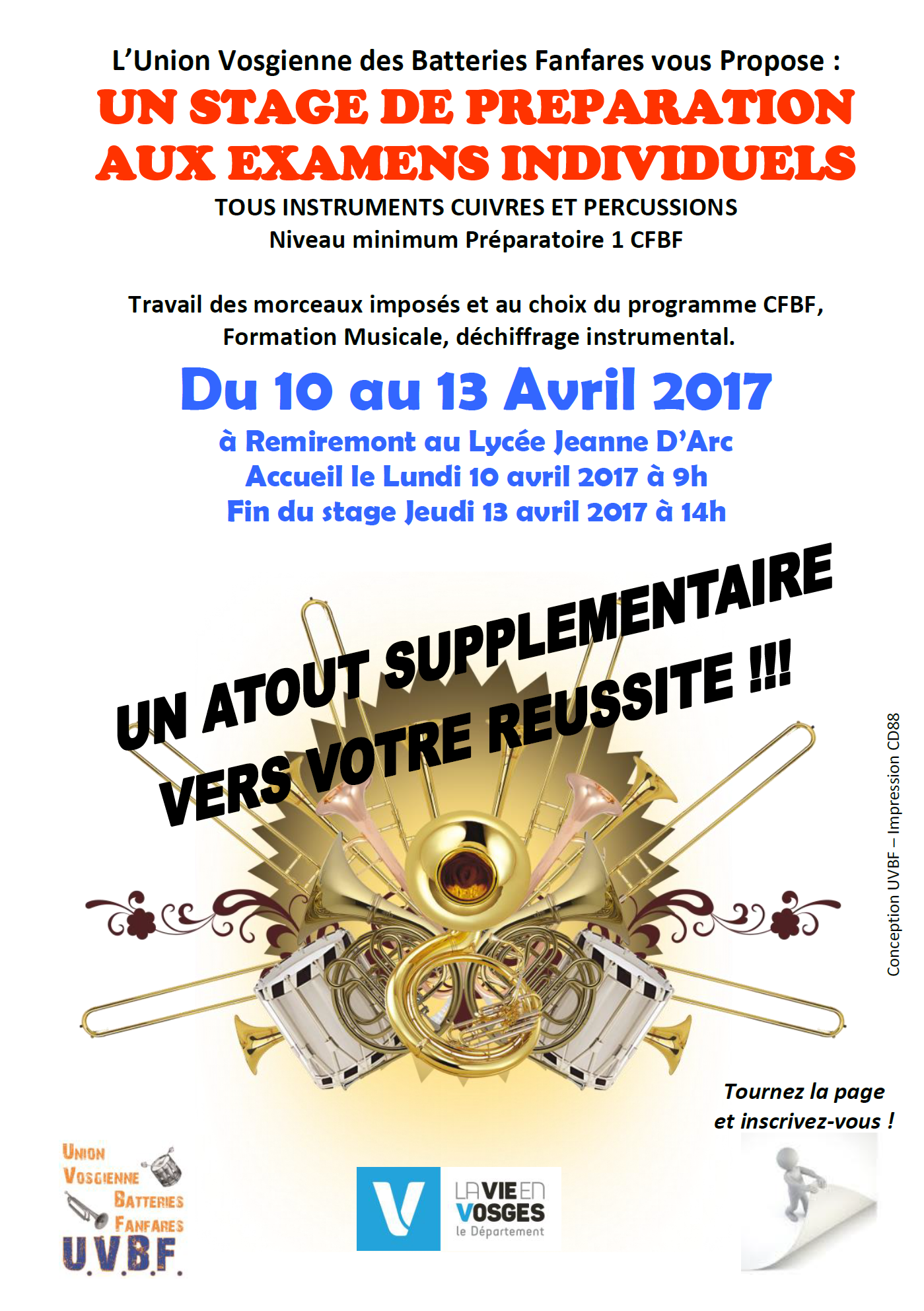 flyer stage avril 2017 recto